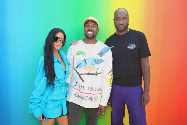 キム・カーダシアン(Kim Kardashian)、カニエ・ウェスト(Kanye West)と、ヴァージル・アブロー(Virgil Abloh)