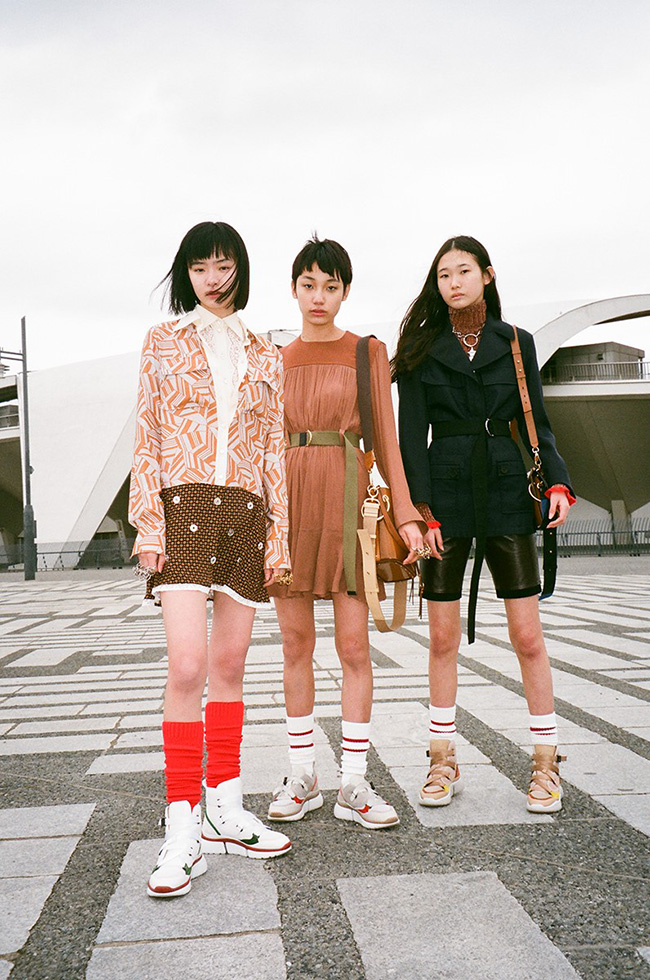Photos:HIROMIX  Styling:Camille Bidault Waddington Model:TSUGUMI(DONNA)、TSUKINA(DONNA)、 丹保ふぶき (IPSILON)、MIOKO