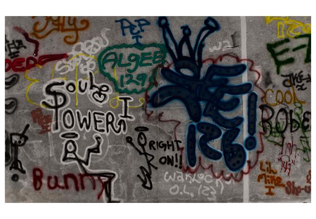 3.《グラフィティ:ソウル・パワー》1973年 ゴードン・マッタ=クラーク 財団&デイヴィッド・ツヴィルナー(ニューヨーク)蔵