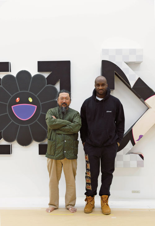 ©︎Virgil Abloh and ©︎Takashi Murakami. Photo by Lucy Dawkins
