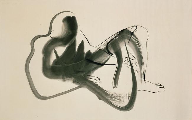 イサム・ノグチ『北京ドローイング(横たわる男)』1930 インク、紙 イサム・ノグチ庭園美術館(ニューヨーク) ©The Isamu Noguchi Foundation and Garden Museum, New York / Artist Rights Society [ARS] - JASPAR. Photo by Kevin Noble.