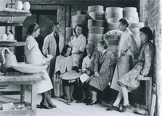 アラビア製陶所美術部門(1945年) photo: Arabia