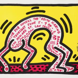 ポスター Club DV8 Unveils the Keith Haring Room, 1986
