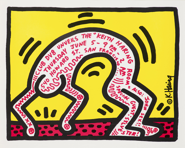 ポスター Club DV8 Unveils the Keith Haring Room, 1986