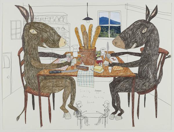 『Dinner Table of Donkey』(2013) ©Shintaro Miyake, Courtesy of Tomio Koyama Gallery