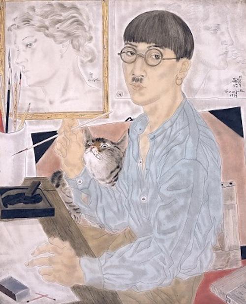 藤田嗣治 《自画像》 1929年 油彩・カンヴァス 東京国立近代美術館蔵 © Fondation Foujita / ADAGP, Paris & JASPAR, Tokyo, 2017 E2833