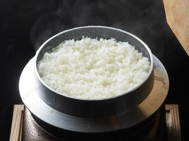 つやつやの白米!「つどつど炊き上げる釜炊きご飯」¥864