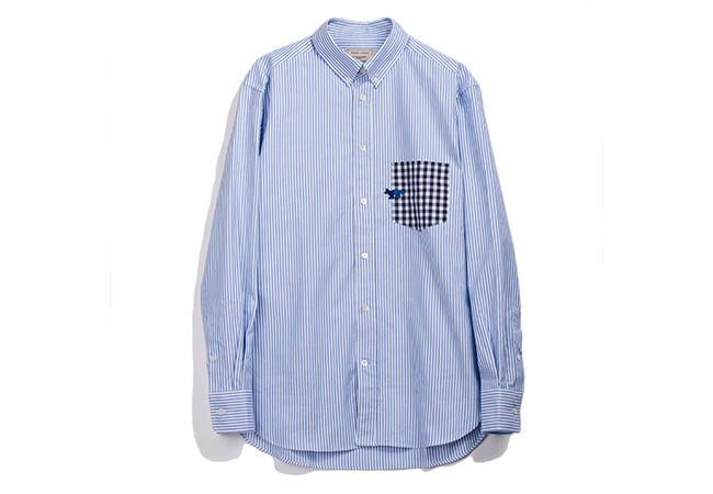 ストライプ ボタンダウン シャツ ¥30,000
