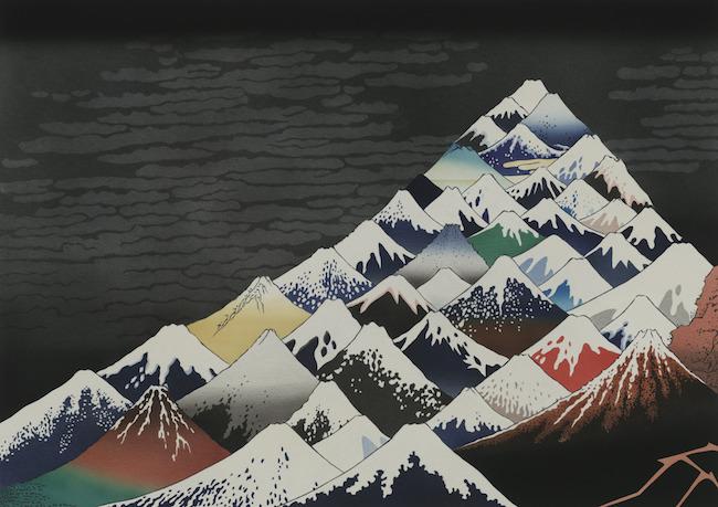 2017年冬に国立西洋美術館で開催された「北斎とジャポニスム」展とのコラボレーション作品『冨撹 三十六景 心中聳然』(2017年)