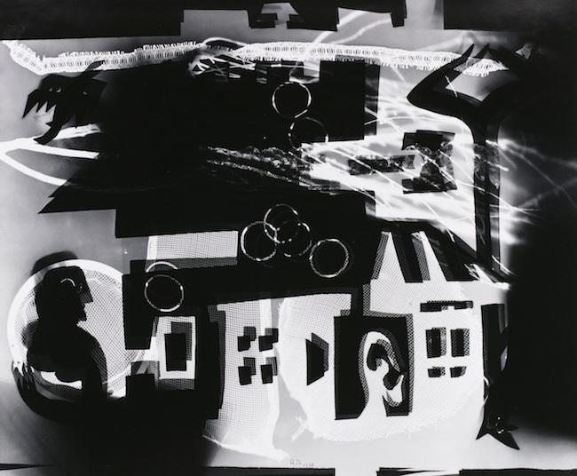 瑛九 《家・窓・人》 〈フォトデッサン〉より 1950年 ゼラチン・シルバー・プリント