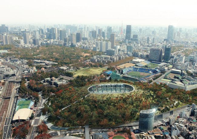 『新国立競技場案 古墳スタジアム』(2012年/東京)Image: courtesy of DGT.