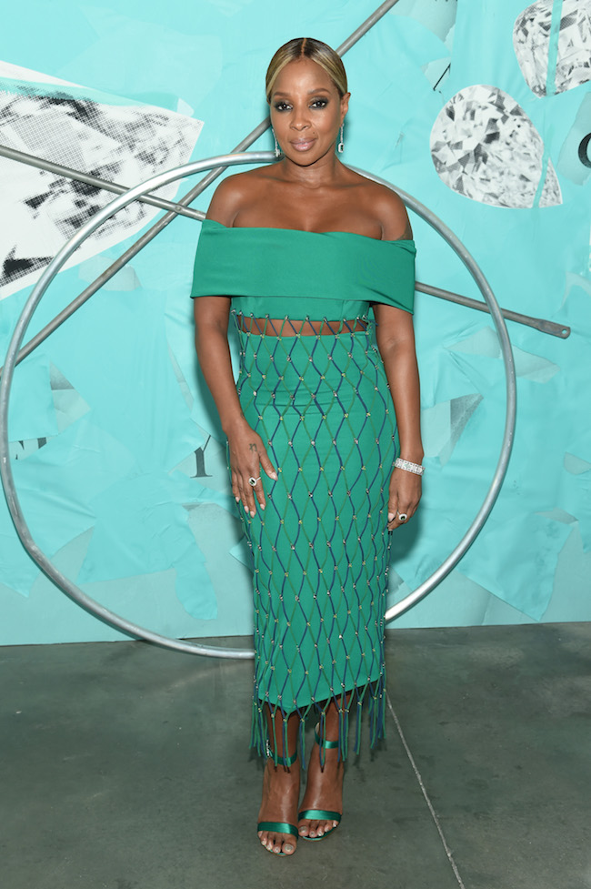 NEW YORK, NY - OCTOBER 09:  Mary J. Blige attends Tiffany & Co. Celebrates 2018 Tiffany Blue Book Collection, THE FOUR SEASONS OF TIFFANY at Studio 525 on October 9, 2018 in New York City.  (Photo by Dimitrios Kambouris/Getty Images for Tiffany & Co.)