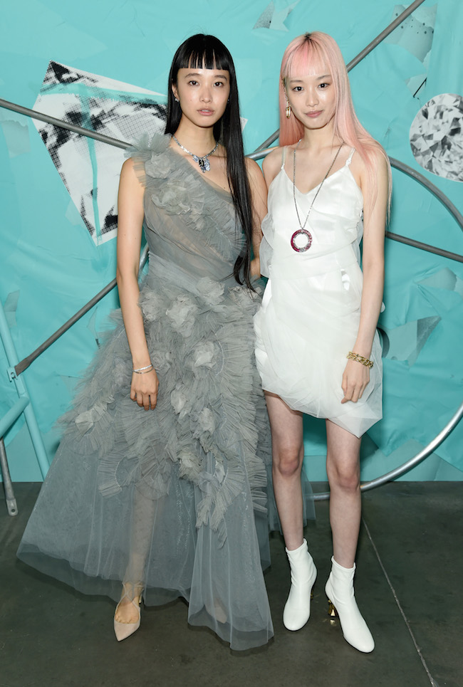 NEW YORK, NY - OCTOBER 09:  Yuka Mannami  and Fernanda Ly attend Tiffany & Co. Celebrates 2018 Tiffany Blue Book Collection, THE FOUR SEASONS OF TIFFANY at Studio 525 on October 9, 2018 in New York City.  (Photo by Dimitrios Kambouris/Getty Images for Tiffany & Co.)