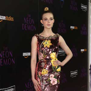 Amazon Studios presents the premiere for The Neon Dement The Arclight Theatre in Hollywood, California.  Pictured: Elle Fanning Ref: SPL1300004  140616   Picture by: Russ Einhorn / Splash News  Splash News and Pictures Los Angeles:310-821-2666 New York:212-619-2666 London:870-934-2666 photodesk@splashnews.com