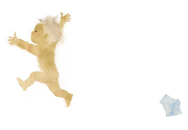 いわさきちひろ はだかんぼ『おふろでちゃぷちゃぷ』(童心社)より 1970年