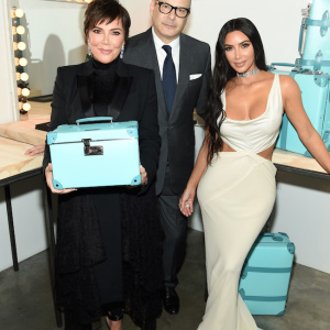 NEW YORK, NY - OCTOBER 09:  (L-R) Kris Jenner, Reed Krakoff, and Kim Kardashian West attend Tiffany & Co. Celebrates 2018 Tiffany Blue Book Collection, THE FOUR SEASONS OF TIFFANY at Studio 525 on October 9, 2018 in New York City.  (Photo by Dimitrios Kambouris/Getty Images for Tiffany & Co.)