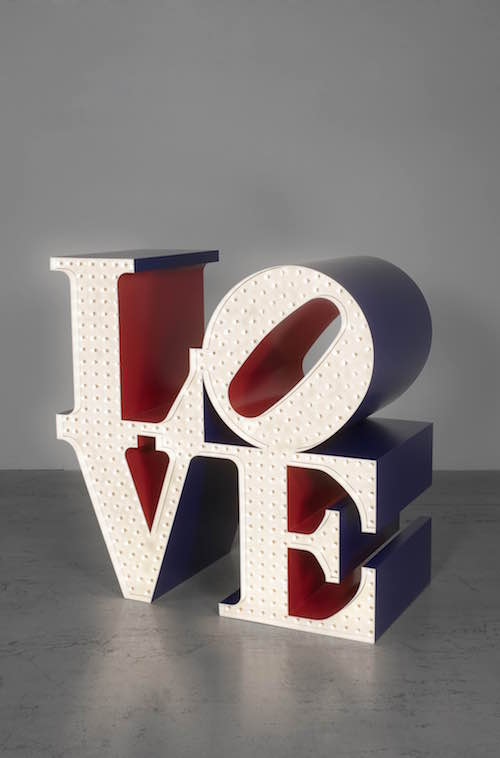 Robert Indiana『The Electric LOVE』1966-2000 Private collection All works: © 2018 Morgan Art Foundation Ltd./Artists Rights Society (ARS), NY. Image courtesy of RI Catalogue Raisonné LLC