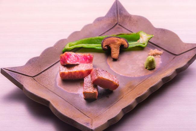 オリーブ牛のサーロインとフィレ(コースサイズ)