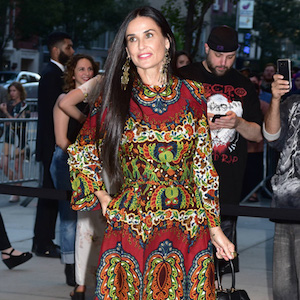 168776, Demi Moore attends the New York premiere of 'Good Time' at the SVA Theater.  New York City, New York - Tuesday August 8, 2017. Photograph: © Darla Khazei, PacificCoastNews. Los Angeles Office (PCN): +1 310.822.0419 UK Office (Avalon): +44 (0) 20 7421 6000