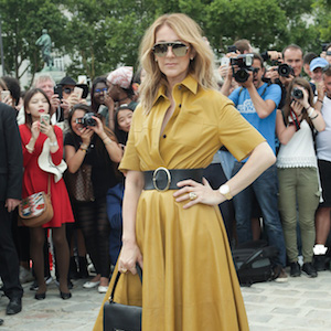 Celine Dion attends the 'Christian Dior' show during Paris Fashion Week - Haute Couture Fall/Winter 2017-2018 on July 3, 2017 in Paris, France.