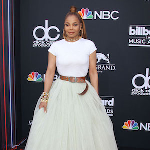 2018 Billboard Music Awards - Las Vegas  Pictured: Janet Jackson Ref: SPL1699667  210518   Picture by: Jen Lowery / Splash News  Splash News and Pictures Los Angeles:	310-821-2666 New York:	212-619-2666 London:	870-934-2666 photodesk@splashnews.com