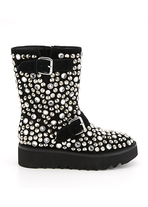 JS Collabo Crystal Boots ¥49,800(柄BLACK)