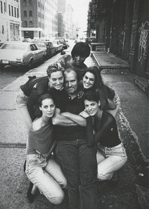 『BRITISH VOGUE』 Christy Turlington, Tatjana Patitz, Naomi Campbell, Cindy Crawford, Christy Turlington & Peter Lindbergh, New York, 1989 © Jim Rakete