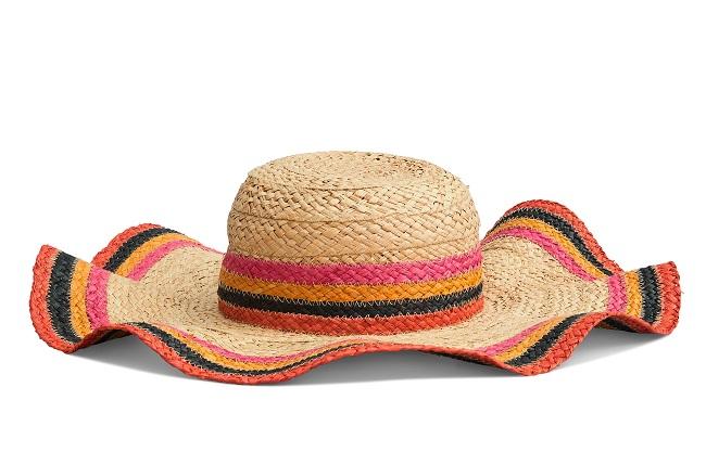 「双子座」におすすめのStriped Straw Hat ¥24,000