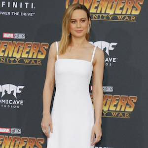 Brie Larson at the premiere of Disney and Marvel's 'Avengers: Infinity War' held at the El Capitan Theatre in Hollywood, USA on April 23, 2018.