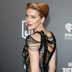 Amber Heard at the World premiere of 'Justice League' held at the Dolby Theatre in Hollywood, USA on November 13, 2017.
