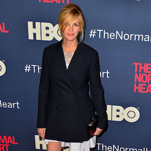 Red carpet arrivals at 'The Normal Heart' New York Screening.  Pictured: Julia Roberts Ref: SPL756586  120514   Picture by: Luca Chelsea / Splash News  Splash News and Pictures Los Angeles:	310-821-2666 New York:	212-619-2666 London:	870-934-2666 photodesk@splashnews.com