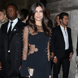 Sara Sampaio seen arriving at the 'L'Oreal Gold Obsession' party during Paris Fashion Week Spring Summer 2017 in Paris, France.  Pictured: Sara Sampaio Ref: SPL1367059  021016   Picture by: MCvitanovic / Splash News  Splash News and Pictures Los Angeles:310-821-2666 New York:212-619-2666 London:870-934-2666 photodesk@splashnews.com