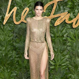 Kendall Jenner attends the British Fashion Awards 2018 in London UK. 10th December 2018    Pictured: Kendall Jenner  Ref: SPL5048660 101218 NON-EXCLUSIVE  Picture by: Lensi Photography / SplashNews.com    Splash News and Pictures  Los Angeles: 310-821-2666 New York: 212-619-2666 London: 0207 644 7656 Milan: 02 4399 8577  photodesk@splashnews.com    World Rights