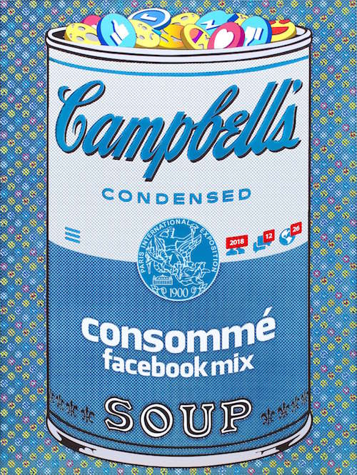 『If There was impossible Campbell's Soup Cans... Consommé facebook Mix』2018