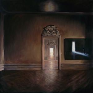 L'Énigme, 2016キャンバスに油彩 200 x 200 cm ©Antoni Taulé