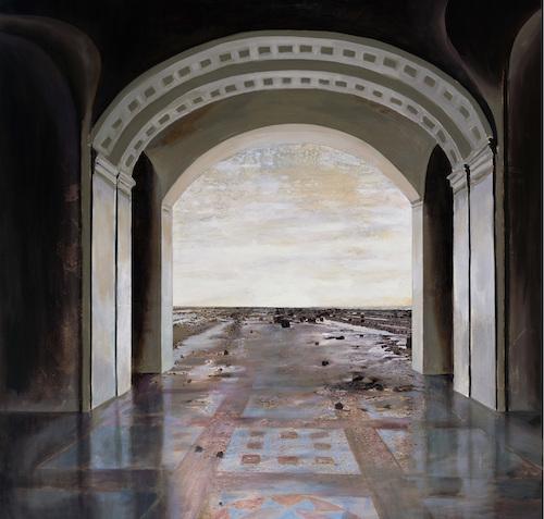 In Girum, 2018 キャンバスに油彩 110 x 110 cm ©Antoni Taulé