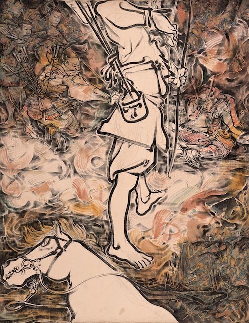 「落馬」(1991) 撮影:長塚秀人 ©YAMAGUCHI Akira, Courtesy of Mizuma Art Gallery