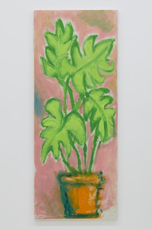 とある未亡人の観葉植物 『あまり水をやらなくても大丈夫な木』171.7 x 69.2 cm 2018 acrylic on canvas ©Ellie Omiya, courtesy of Tomio Koyama Gallery