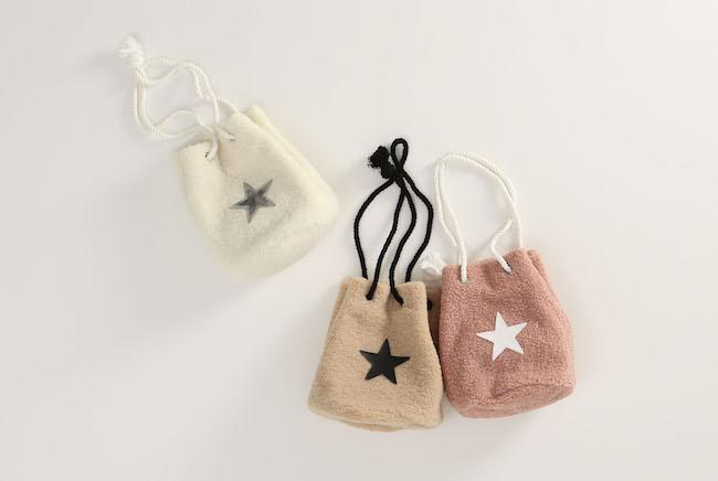 ボアミニバケットバッグ(ホワイト/ベージュ/ピンク)各¥8,500