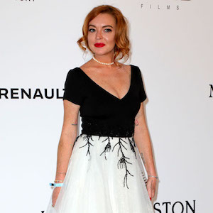 Lindsay Lohan at the 24th amfAR Gala Cannes, Antibes, France
