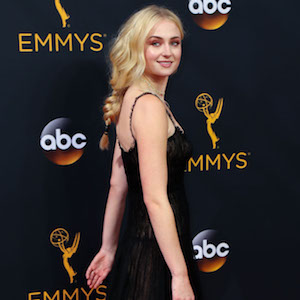 Sophie Turner attend the 68th Annual Primetime Emmy Awards at Microsoft Theater in Los Angeles, California  Pictured: Sophie Turner Ref: SPL1357873  180916   Picture by: London Entertainment/Splash News  Splash News and Pictures Los Angeles:310-821-2666 New York:212-619-2666 London:870-934-2666 photodesk@splashnews.com