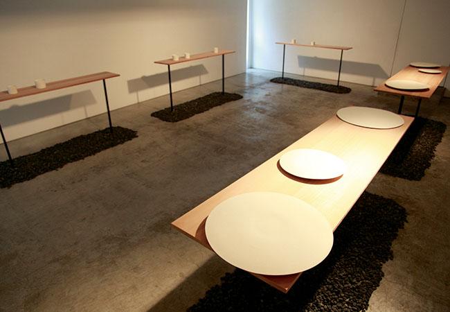 hiromiyoshii roppongiにて開催された「黒田泰蔵」展の展示の様子(2014年)