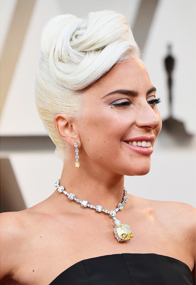 「ティファニー ダイヤモンド」を纏ったレディー・ガガ Photo credit: Getty Images for Tiffany & Co.