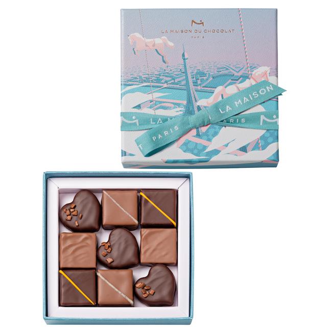 ウェルティージュ ショコラ 4粒入 ¥1,950、9粒入 ¥3,250、16粒入 ¥5,000