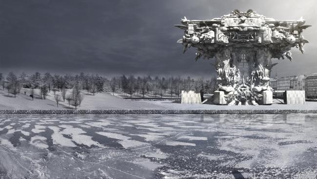 マーク・フォスター・ゲージ『グッゲンハイム・ヘルシンキ美術館』 コンピューター・グラフィックス、2014 年 Image courtesy of Mark Foster Gage Architects