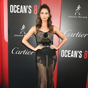 Lily Aldridge at the 'Ocean's 8'  World Premiere at Alice Tully Hall in New York. New York City, New York - Tuesday June 5, 2018.