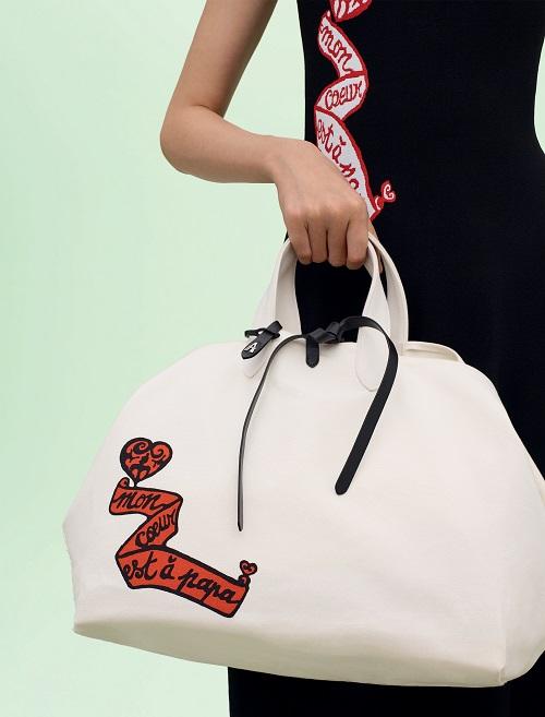 スクエアキャンバストートバッグ ¥113,000