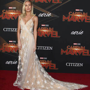 """Brie Larson attends the premiere of """"Captain Marvel """" in Los Angeles on Monday, March 4th, 2019Photograph: © PacificCoastNews. Los Angeles Office (PCN): +1 310.822.0419 UK Office (Avalon): +44 (0) 20 7421 6000 sales@pacificcoastnews.com"""