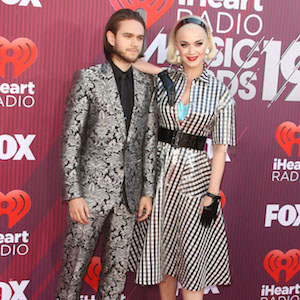 """Zedd, Katy Perry attends the """"2019 iHeartRadio Music Awards """" in Los Angeles on Thursday, March 14th, 2019Photograph: © John Roca/PacificCoastNews. Los Angeles Office (PCN): +1 310.822.0419 UK Office (Avalon): +44 (0) 20 7421 6000 sales@pacificcoastnews.com"""