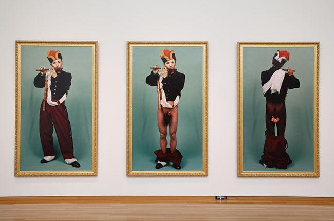 企画展の出展作品より。森村泰昌『肖像(少年1、2、3)』1988年
